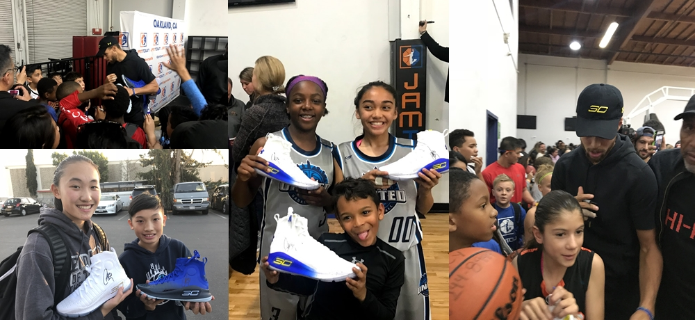 Stephen Curry drops by Team UNITED Tournament!!!
